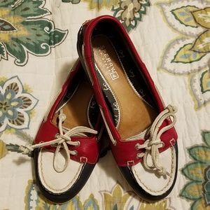 Sperry Top-sider Red White and Blue Boat Shoes